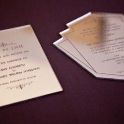 vestuvinis pakvietimas veidrodinis plastikas graviruotas