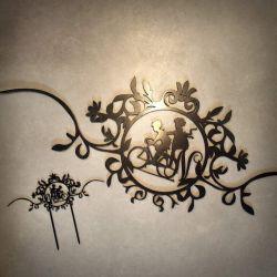 vestuviu-dekoracija-torto-papuosimas ir sienos dekoracija